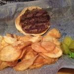 burger home made chips