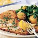 Veal Scaloppine al Prosciuto with sage, sauteed spinach