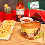 Delicious, burger with bacon