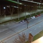 Espectaculares vistas de Lleida de noche desde el balcon de la habitacion Que es espectacular,el