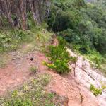 Mudslide destroyed path