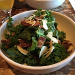 Kale Salad with Maple Bacon (and maple bacon vinaigrette)