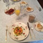 Breakfast was beautiful and delicious!