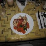 Caribbean lobster dinnner