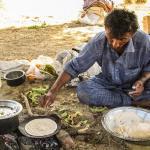 Mittagessen in der Wüste