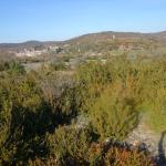 """Le Couvertoirade in the distance is a beautiful and unusually remote """"artist village""""."""