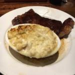 New York Strip Steak and Steakhouse Mac and Cheese