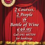 Harrigan's 2 Courses 2 People & Bottle of Wine €49.95