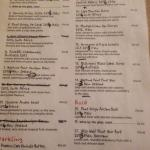 wine list with a few minor alterations!!