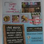 welcome to Candidasa Resto You & Me Lounge Bar