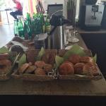 Herrliches Frühstück...und tolle Einrichtung! War sehr begeistert vom liebevoll dekorierten Spei