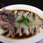 鯛とハムの蒸し物