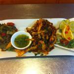 sèche espagnols et légumes griller