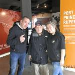 Mmmichael, mmy Dad and I taking in the Port Interpretive Centre!