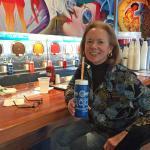 Enjoying a frozen Wet Willies drink