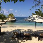 beach villa view