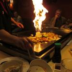 Flaming vegetable volcano...