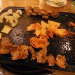 肉が焼けました