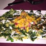 crunchy spinach & mango - YUMMY!
