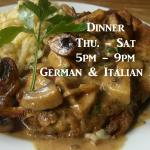 Thursday - Saturday open for Dinner (5pm-9pm)