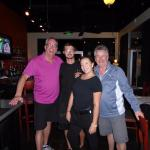 My brother & I with Rosina's staff: server Taylor and sous chef.