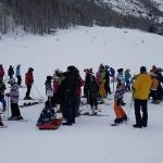 First Day at the Eskimo Ski School gathering point in Saas Fee
