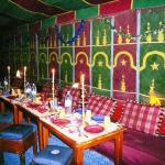 Deuxième salle à manger dans la tente bédouine