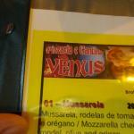 Cardápio da pizzaria VÊNUS.
