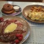 Lemon Ricotta & Fresh Raspberry Pancake