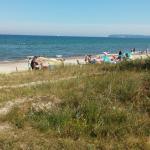 Strandbesuch am Abend.Zeltplatz. Weg zum Strand. Strand. Noch einmal Weg zum Strand. Zeltaufbau.