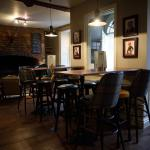 The newly refurbished bar area