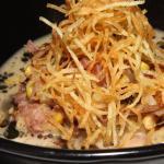 turkey + dumplings onion likker and black truffle $15