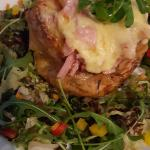 lovely salad surrounding the jacket potato