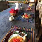 Complimentary breakfast, brought to our villa