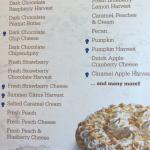 Pie menu in February Raspberry season.