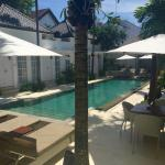 Welcoming, intimate and meticulously maintained pool area