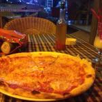 Pizza and brusheta