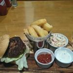 Lamb burger very good, but no mint sauce!