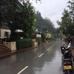 road in front of guest house