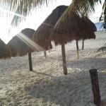 view from restaurant of beach ojo de agua beachside restaurante