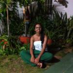 Foto tomada desde el jardín de la casa