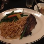 Sirloin Steak entree - split in half - amazing portions