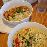 cesar salad, pad thai, pasta