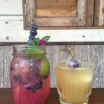 Blueberry Mojito, Whiskey Sour.