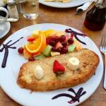 Coconut French Toast with fresh fruit