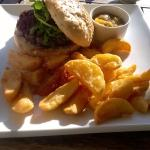 Humongous home made burger & triple cooked chips
