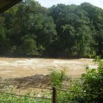 River from a rapids-view tropical tent