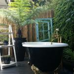 Relax in your very own private outdoor bath in the Marlin Apartment!