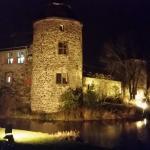 Schönes Wasserschloss, das Restaurant liegt im Innenhof