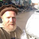 Kevin Cullen at Qissa Khawani Bazaar. Feb 2016.